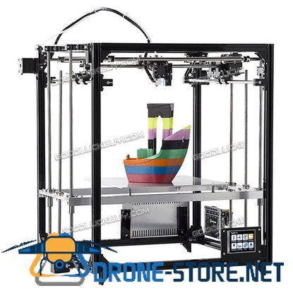 New 26*26CM FLSUN F3 Auto-leveling Dual-nozzle DIY 3D Printer Kit w/ 2 Filament