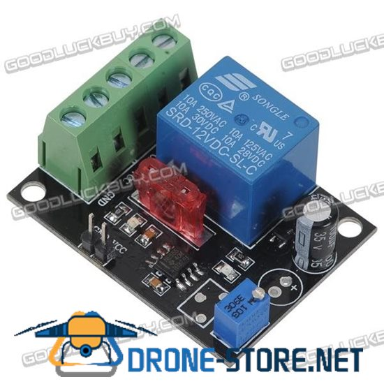 DC12V Adjustable 1-50s Time Delay Starter Module Time Delay Relay Module w/10A Fuse
