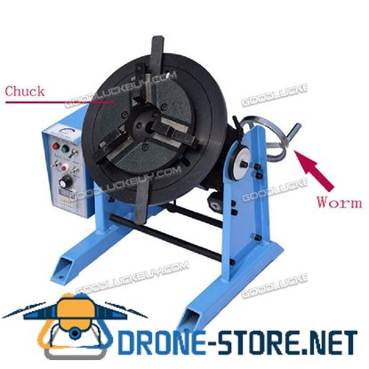 1~15RPM 30KG Duty Welding Positioner Turntable Timing with 200mm Chuck 220V/110V