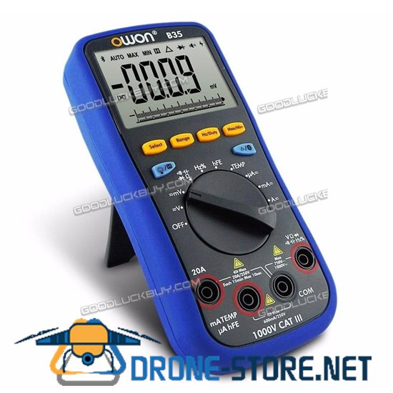 OWON B35 Large LCD Multimeter Bluetooth Android IOS Mobile App Datalogger DMM