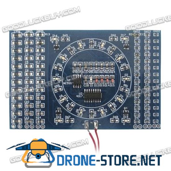 SMD Components Soldering Welding Practice Board with Flash LED Circut for DIY