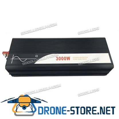 3000W DC 24V to AC 220V/110V Car Converter Pure Sine Wave Power Inverter