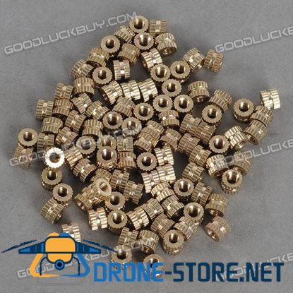H62 Brass Knurl Nuts M3*5*4 Metric Threaded 100pcs/Pack