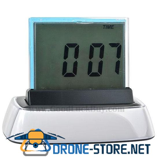Translucent Desktop LCD Clock with Multi-Color Backlight