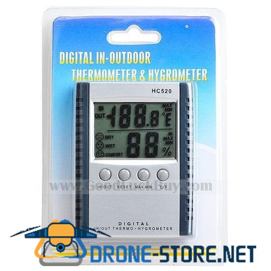 """2.5"""" Digital LCD Humidity/Hygrometer and Thermometer (1*AAA)"""