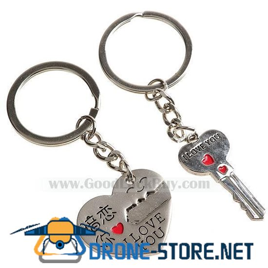 Kirksite Key to Your Heart Couple's Keychains (Pair)