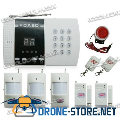 99 Zones Intelligent Household Wireless PIR Home Security Burglar Alarm System (Package B)