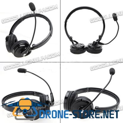 2 in 1 Stereo Bluetooth Headset Boom with Mic Noise Canceling Wireless Headphone