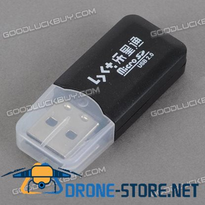 Micro SD Card Reader with USB 2.0 High Speed Interface-Black
