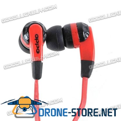 3.5mm Super Bass Stereo Earphones High Quality Headphone For lPOD lPHONE MP3 MP4 Red and Black