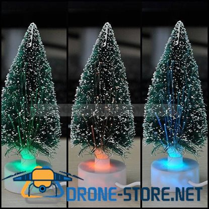 Color Changing USB Christmas Tree Desk Mini LED Decor