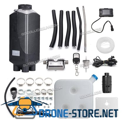 8KW 12V diesel Air Heater 15L Tank for Car Motorhome+LCD Switch+Remote Control D