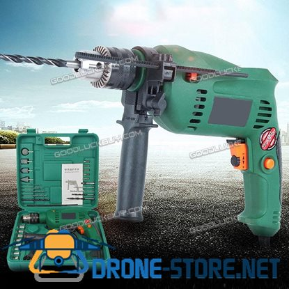 Electric Power Drill Impact 1580W Keyless Chuck 13mm V/Speed+Forward & Reverse