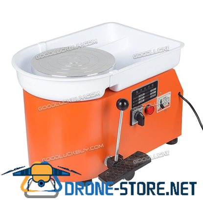 25CM 350W Electric Pottery Wheel Ceramic Machine For Work Clay Art Craft 220V