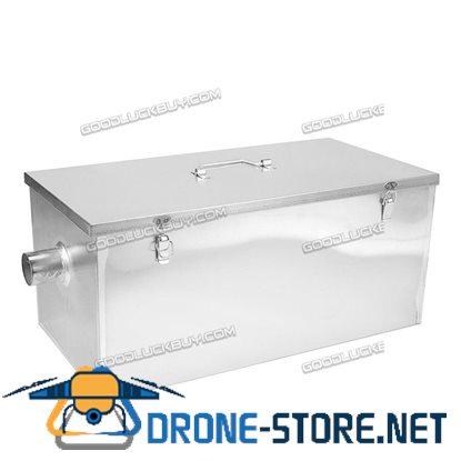 13GPM 25LB Gallon Per Minute Restaurant Grease Trap Interceptor Stainless Steel