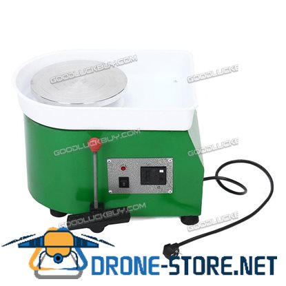 25CM 350W Electric Pottery Wheel Machine For Ceramic Work Clay Art Craft Green