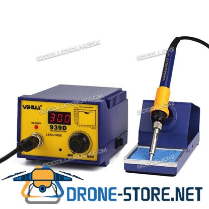 YIHUA 939D 60W Rework Electric SMD ESD Soldering Iron Station Kit w/ Stand