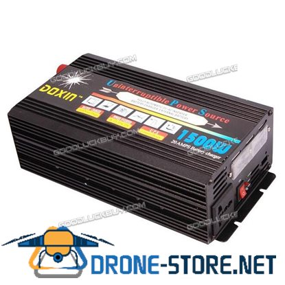 1500W 3000W(peak) 12DCV to 110ACV Power Inverter+ Battery Charger