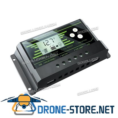 10A Y-SOLAR Z10 Backlit LCD Solar Charge Controller w/ Dual USB 5V Charger