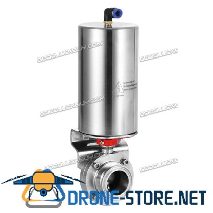"1""/25mm Triclamp Sanitary Butterfly Valve Pneumatic Actuator Single-acting Work"