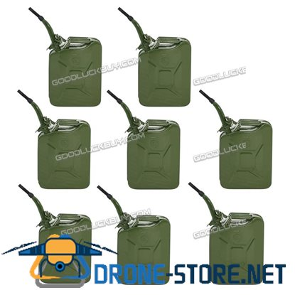 8Pcs 5 Gallon 20L Military Jerry Can Gasoline Fuel Storage Emergency Tank