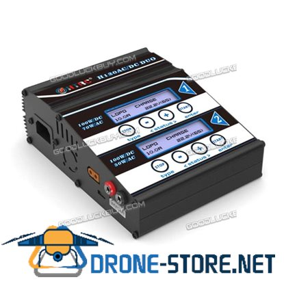 HTRC H120 AC 50W 70W DC 100W 2 Dual Ports 10A RC Balance Charger Discharger