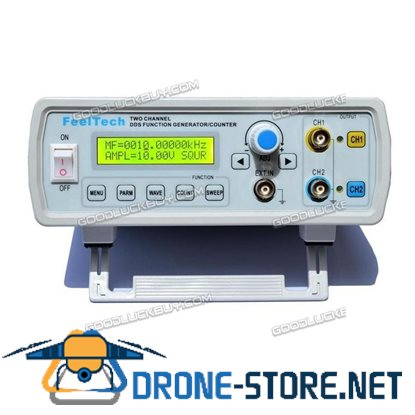 FY2200S 10MHz Dual Channel DDS Function Signal Generator Sine Square Wave Sweep Counter