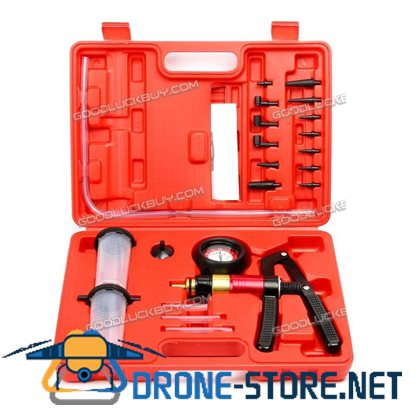 2 In1 Brake Fluid Bleeder Oil Change Handheld Vacuum Pistol Pump Tester Kit