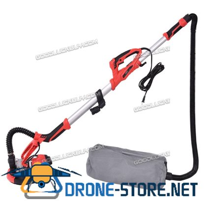 New 800W Electric Drywall Sander Adjustable Variable Speed with Vacuum and LED Light