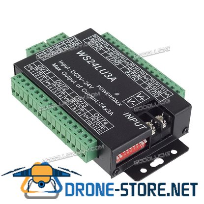24 Channel 3A/CH DMX512 Controller Led Decoder Dimmer Lighting Project Power