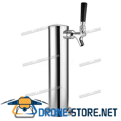Single 1 Tap Stainless Steel Faucet Draft Beer Tower Bar Homebrew For Kegerator