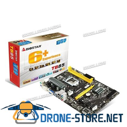 BIOSTAR TB85 LGA 1150 motherboard New in Box Intel LGA1150 (BTC, ETH, mining)