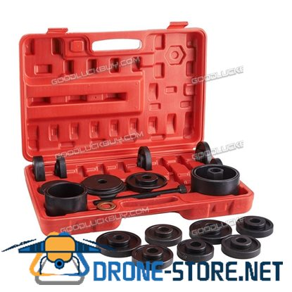 23PCs Bearing Removal Adapter Puller Pulley Tool Kit W/Case Front Wheel Drive
