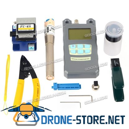 Fiber Optic FTTH Tool Kit with FC-6S Cleaver Optical Power Meter Visual Finder