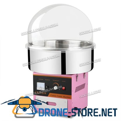 1030W Electric Commercial Cotton Candy Maker Fairy Floss Machine Pink