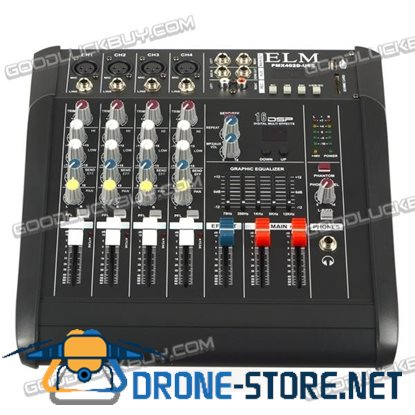 2000W 4 Channel Professional Powered Mixer Power Mixing Amplifier Amp 16DSP