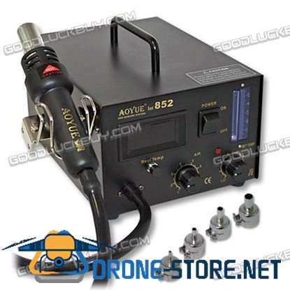 AOYUE 852 Digital SMD Rework Station Soldering Sation with Hot Air Gun 220V