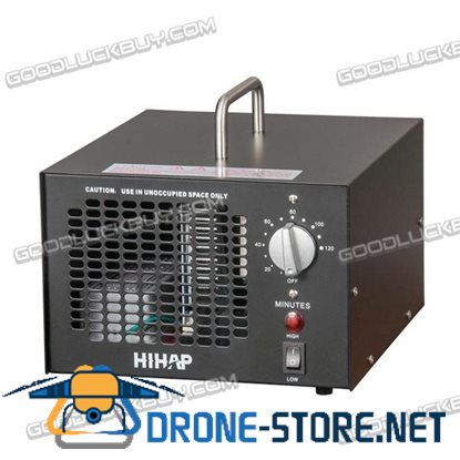 100W Commercial OZONE Generator Industrial O3 3.5-7.0g/h Air Purifier Mold Mildew