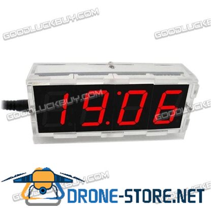 DIY kits Digital Red LED Electronic Microcontroller Clock Large Screen Display Time with Crystal Case