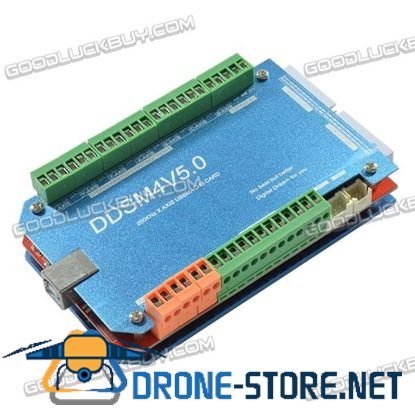 DDSM4V5.0 200KHz 4-Axis CNC USBMACH3 Card Interface Board with Aluminum Shell and Case