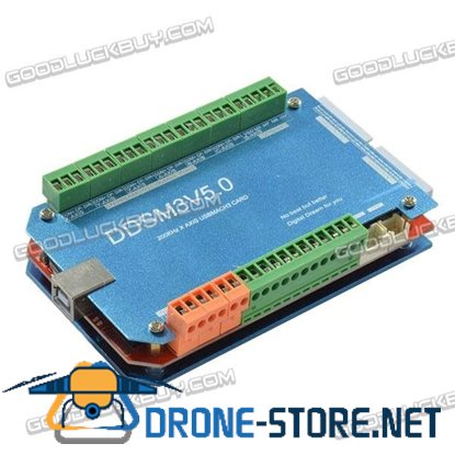 DDSM3V5.0 200KHz 3-Axis CNC USBMACH3 Card Interface Board with Aluminum Shell and Case