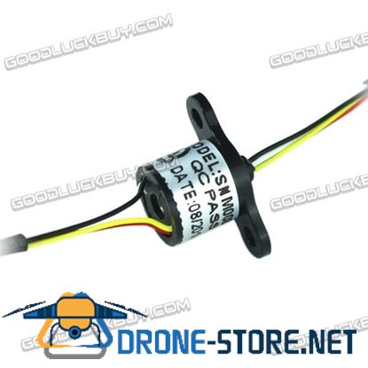 SNM008-08 8.4mm 8Wire 1A/Circuit Micro Slip Ring Conductor 250RPM