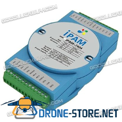 IPAM-7404 4CH Pulse Counter Frequency Data Acquisition Module RS485 Modbus ADAM DIN Rail