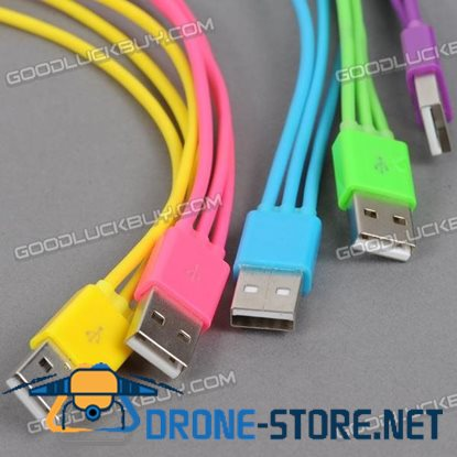 Three in One Colorful USB Charging Cable for Mobile Phone 20cm 6pcs/Pack