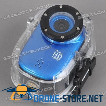 F15 HD 1080P H.364 12.0MP Digital Sport Video Action Camcorder 140 Degree Wide Angle Lens Blue