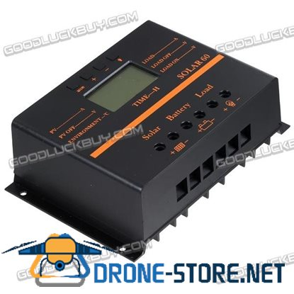 60A Dig PWM Solar Charge Controller 12V/24V Multifunction Mobilephone Charger