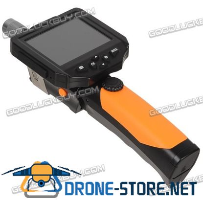 """3.5"""" LCD Inspection Camera 5.5mm Borescope Endoscope Zoom Rotate 3m Slim Cable"""