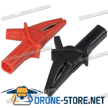 2pcs Large Dolphin Gator Clips Red+Black HT18A