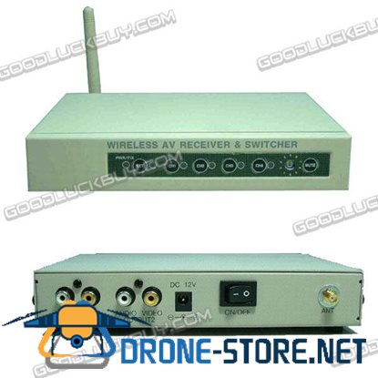 CCTV-2400Rx+p 2.4GHz A/V Receiver Box with Auto Switcher & Manual 4CH