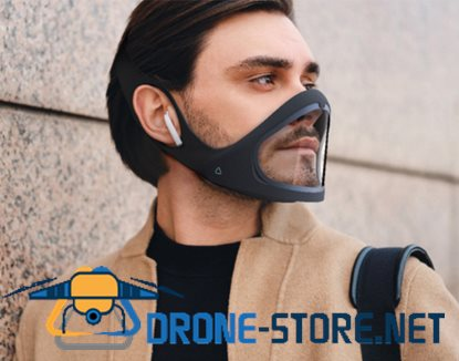 Openable smart mask, adjustable and reusable double layer anti-fog adult outdoor silicone mask